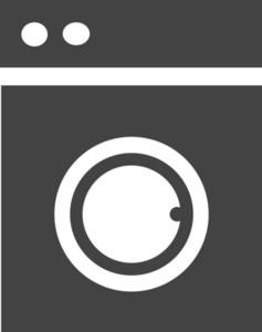 Washer Full Glyph Icon