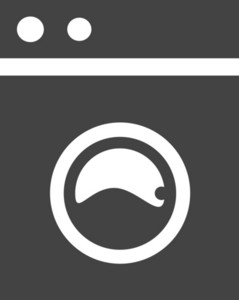Washer Glyph Icon
