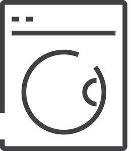 Washer Minimal Icon
