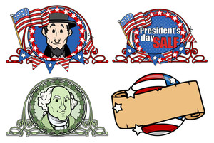 Washington Birthday Designs Vectors