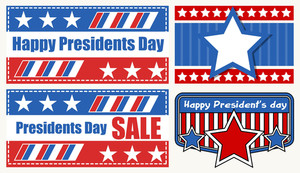 Washington Birthday Sale Banners