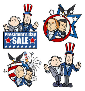 Washington & Lincoln Presidents Day Cartoons And Clip-art