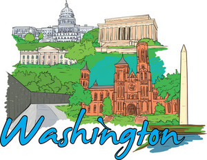 Washington Vector Doodle