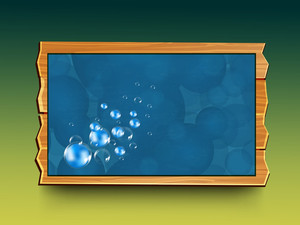 Water Bubbles Isolated In Frame With Space For Your Text
