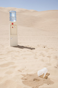 Water cooler in desert