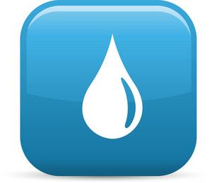 Water Drop Elements Glossy Icon