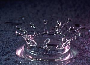 Water Drop On Water
