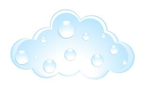 Water Drops On Cloud