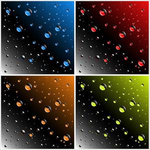 Water Drops Vectors