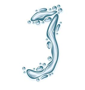 Water Liquid Vector Alphabet.