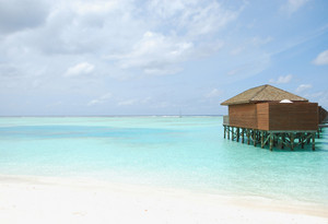 Water Villas In Maldives (beach Scene)