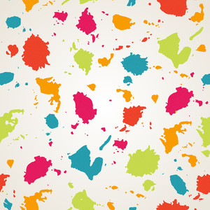 Watercolor Paint Stains Seamless Pattern.copy Square To The Side And You'll Get Seamlessly Tiling Pattern Which Gives The Resulting Image Ability To Be Repeated Or Tiled Without Visible Seams.