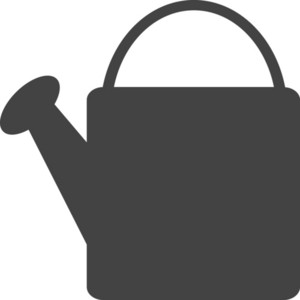 Watering Can Glyph Icon