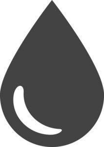 Watter Drop Glyph Icon