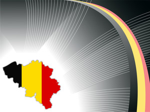 Wave Background With Belgium Map