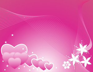 Wave Background With Romantic Heart