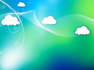 Wave Clouds Background