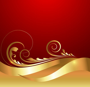 Wave Flourish Swirl Background