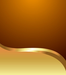 Wave Golden Banner Vector