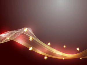 Wave Golden Sparkles Backdrop Vector Designs