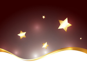 Wave Golden Stars Background