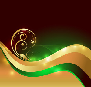 Wave Golden Swirl Background