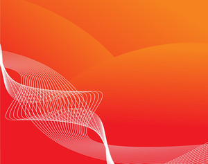 Wave Halftone On Orange Background