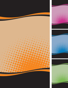 Wave Template. Vector Backgrounds Set.