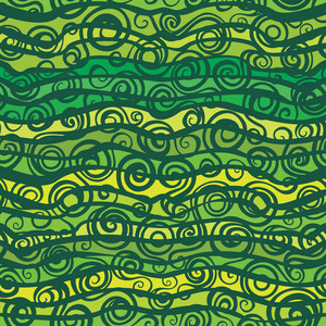 Waves Abstract Seamless Pattern