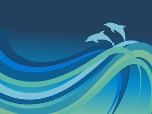 Waves And Dolphin In The Sea
