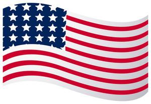Wavy America Flag