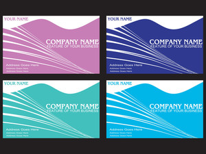 Wavy Background Business Card