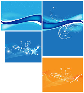 Wavy Backgrounds Vectors
