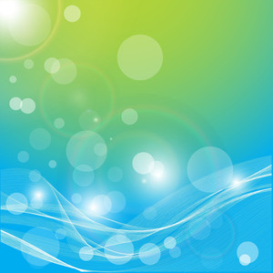 Wavy Bokeh Vector Background