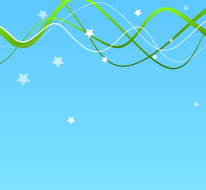 Wavy Lines Stars Background