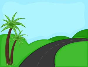 Way - Cartoon Background Vector
