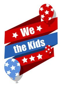 We The Kids  Constitution Day Vector Illustration