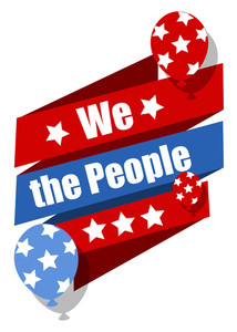 We The People  Constitution Day Vector Illustration