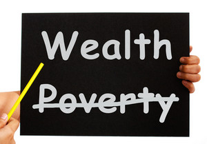 Wealth Board Showing Money Not Poverty