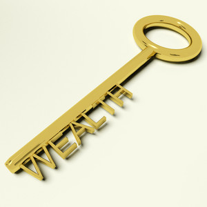 Wealth Key Representing Riches And Prosperity