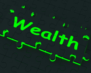 Wealth Puzzle Showing Richness And Abundance