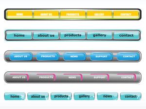 Web 2.0 Style Menu Button Series Set 10