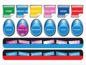 Web 2.0 Style Menu Button Series Set 14