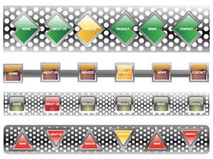 Web 2.0 Style Menu Button Series Set 1