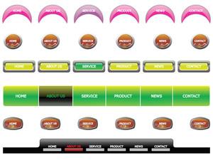 Web 2.0 Style Menu Button Series Set 4