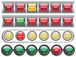 Web 2.0 Style Menu Button Series Set 5