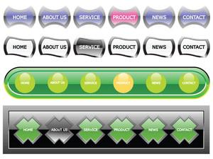 Web 2.0 Style Menu Button Series Set 6