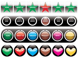 Web 2.0 Style Menu Button Series Set 7