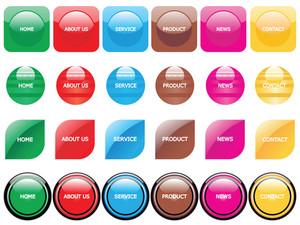 Web 2.0 Style Menu Button Series Set 9