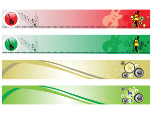 Web 2.0 Style Musical Series Website Banner Set 16